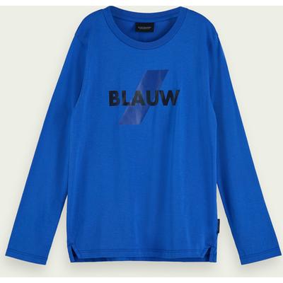 Scotch & Soda Langärmliges Blauw T-Shirt aus 100% Baumwolle