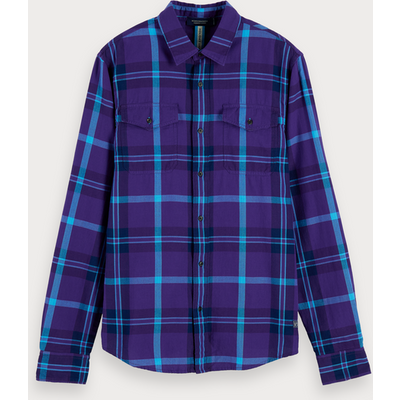 Scotch & Soda Karo-Shirt mit Fischgrätmuster, Regular Fit