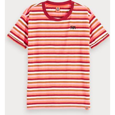 Scotch & Soda Gestreiftes T-Shirt mit Rundhalsausschnitt