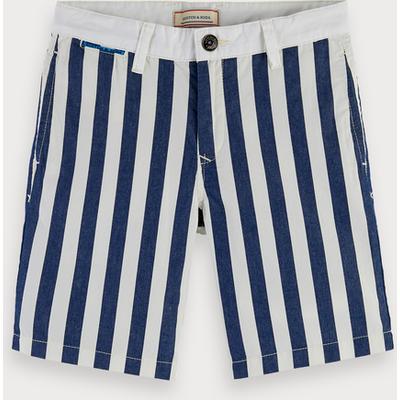 Scotch & Soda Gestreifte Chino-Shorts aus Baumwolle