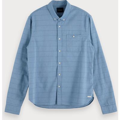 Scotch & Soda Oxford-Shirt mit Muster, Regular Fit