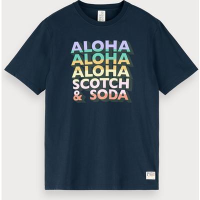 Scotch & Soda T-Shirt mit Aloha-Artwork