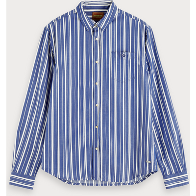 Scotch & Soda Garnfarbenes Shirt mit Streifen, Regular Fit