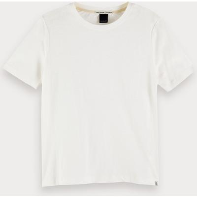 Scotch & Soda Kurzärmliges T-Shirt aus Leinenmischung