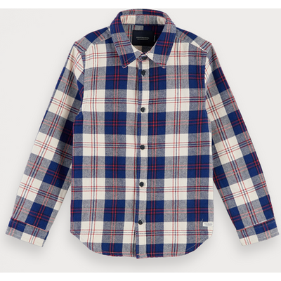 Scotch & Soda Kariertes Flanellshirt, Regular Fit