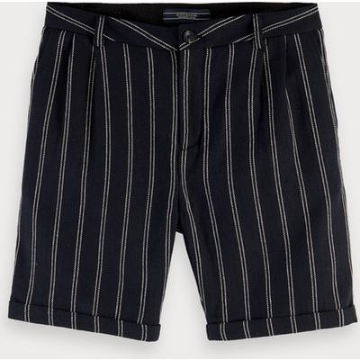 Scotch & Soda Gemusterte Shorts aus Baumwollleinen