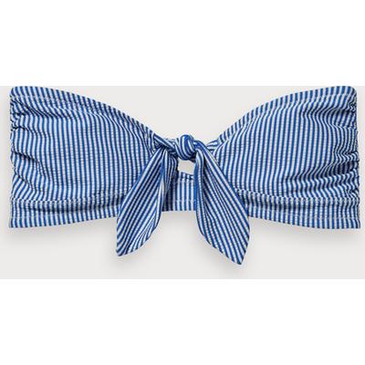 Scotch & Soda Striped bandeau bikini top