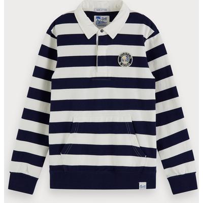 Scotch & Soda Sweatshirt mit Rugbystreifen
