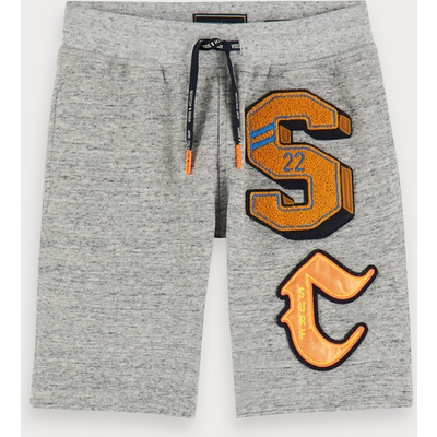 Scotch & Soda Melierte Sweatshorts mit Logo