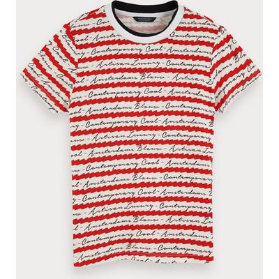 Scotch & Soda Kurzärmliges T-Shirt mit Print