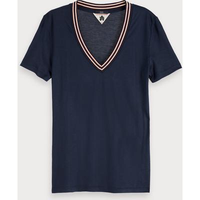 Scotch & Soda Kurzärmliges T-Shirt mit V-Ausschnitt