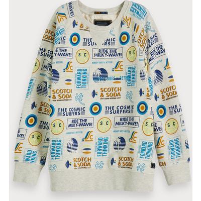 Scotch & Soda Sweatshirt mit Rundhalsausschnitt und Print