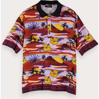 Scotch & Soda Poloshirt mit Comic-Print
