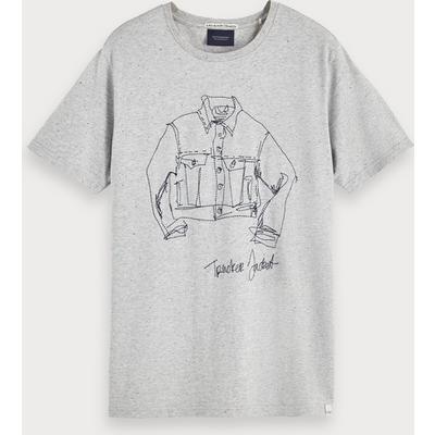 Scotch & Soda T-Shirt mit Artwork-Grafik