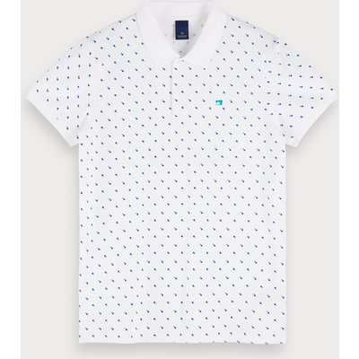 Scotch & Soda Poloshirt mit Mini-Print