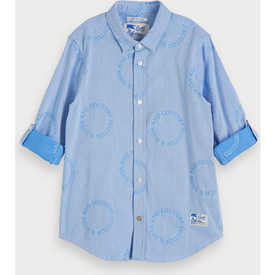 Scotch & Soda Shirt mit Jacquard-Logos, Regular Fit