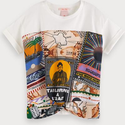 Scotch & Soda Oversize-T-Shirt mit bedrucktem Einsatz