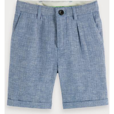 Scotch & Soda Cotton-linen herringbone shorts