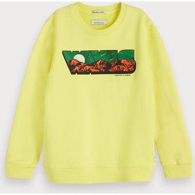 Scotch & Soda Sweatshirt mit Artwork und Rundhalsausschnitt