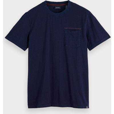 Scotch & Soda Indigoblaues T-Shirt
