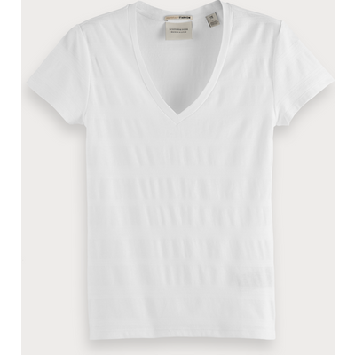 Scotch & Soda Basic T-Shirt mit V-Ausschnitt