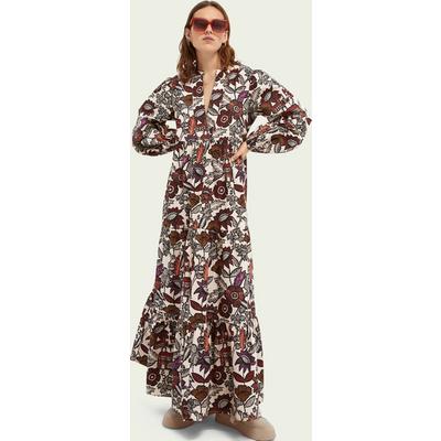 Scotch & Soda Voluminöses Kleid mit Print aus Bio-Baumwolle   SCOTCH & SODA SALE