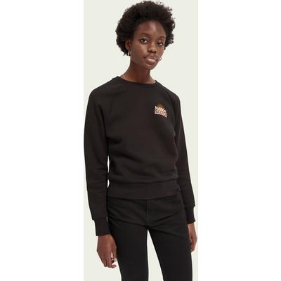 Scotch & Soda Sweatshirt aus Baumwollmischung mit Logo-Artwork   SCOTCH & SODA SALE