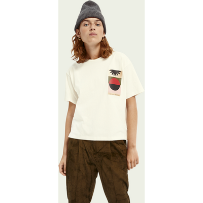 Scotch & Soda T-Shirt im Boxy Fit mit Artwork | SCOTCH & SODA SALE