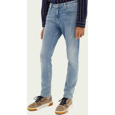 Scotch & Soda Skim Super Slim Fit Jeans mit recycelter Baumwolle– Blauw Trace | SCOTCH & SODA SALE