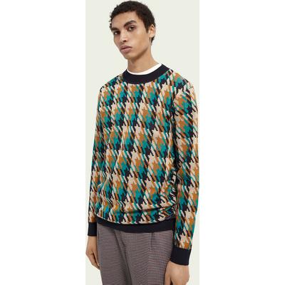 Scotch & Soda Kariertes Sweatshirt aus Woll-Baumwollmischung mit Rundhalsausschnitt | SCOTCH & SODA SALE