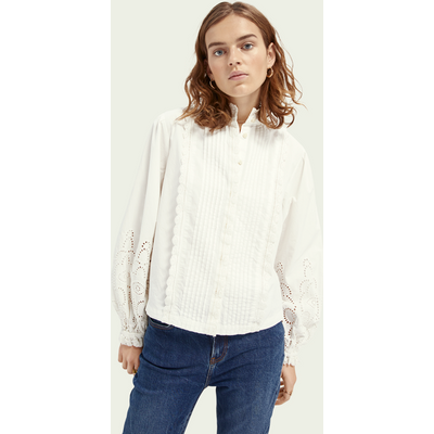 Scotch & Soda Top aus Bio-Baumwolle mit Lochstickerei | SCOTCH & SODA SALE