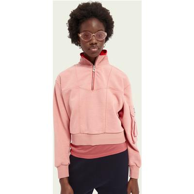 Scotch & Soda Sweatshirt im Military-Look mit hohem Kragen   SCOTCH & SODA SALE