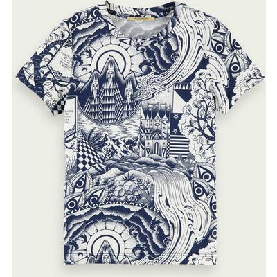 Scotch & Soda Kurzärmliges T-Shirt mit Print aus Baumwolle | SCOTCH & SODA SALE