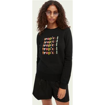 Scotch & Soda Sweatshirt mit grafischem Print aus Bio-Baumwollmischung   SCOTCH & SODA SALE