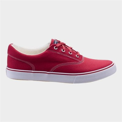 Hush Puppies Byanca Lace Up Trainer in Red