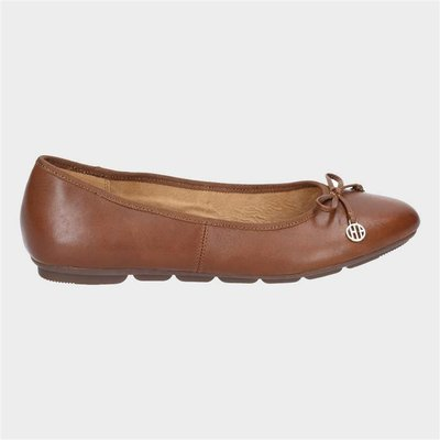 Hush Puppies Womens Abby Bow Ballet in Brown