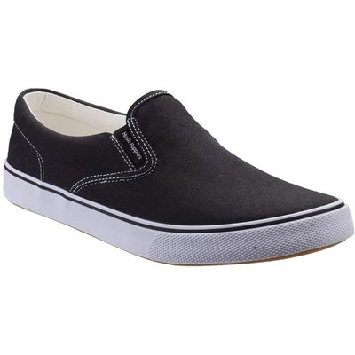 Hush Puppies Womens Byanca Slip On Canvas in Black