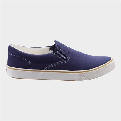 Hush Puppies Womens Byanca Slip On Canvas in Blue