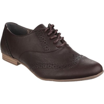 Divaz Womens Levato Lace Up Brogue in Brown