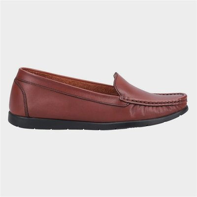 Fleet And Foster Womens Tiggy Tan Leather Loafer