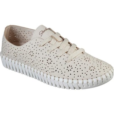 Skechers Sepulveda Blvd Floral Womens Cream Shoe