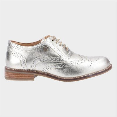 Hush Puppies Natalie Womens Gold Leather Brogue