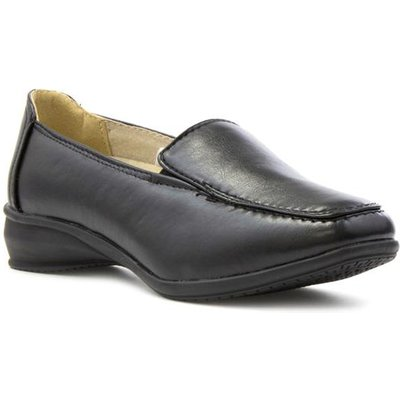 Dr Keller Sally Womens Black Wide Fit Loafer Shoe