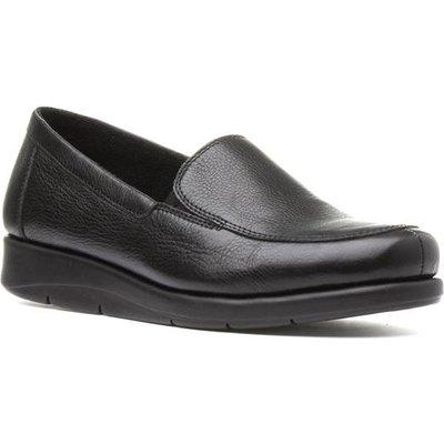 Comfy Steps Womens Black Leather Slip On Loafer