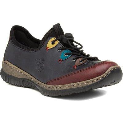 Rieker Womens Navy Lace Up Shoe