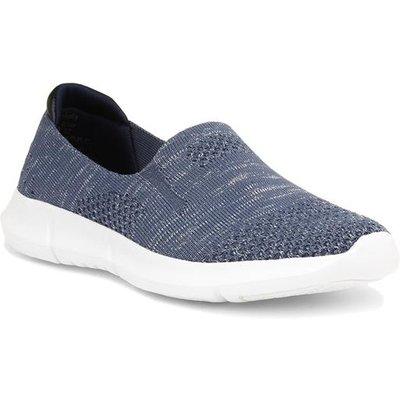 Heavenly Feet Womens Holly Blue Slip On Shoe