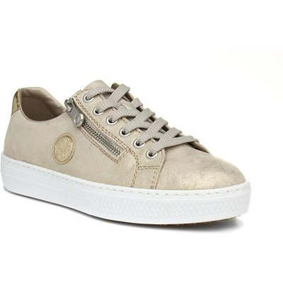 Rieker Womens Gold Lace Up Casual Shoe