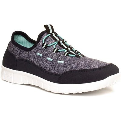Lilley Womens Grey And Blue Slip On Trainer