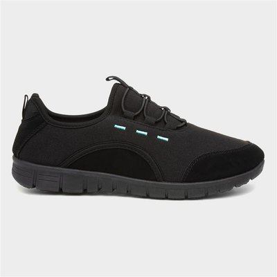 Lilley Womens Black Speed Lace Trainer