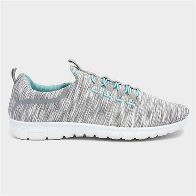Lilley Womens Grey Speed Lace Trainer